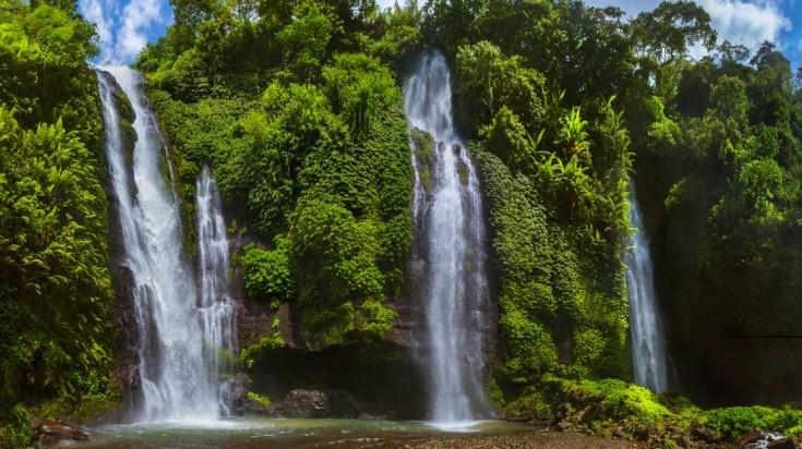 Sekumpul is one of the most difficult waterfalls to visit in Indonesia.