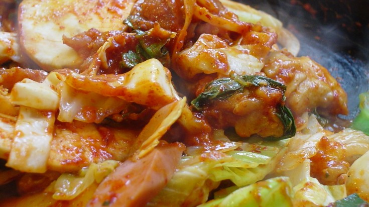 Dakgalbi is a flavourful street food found in Seoul