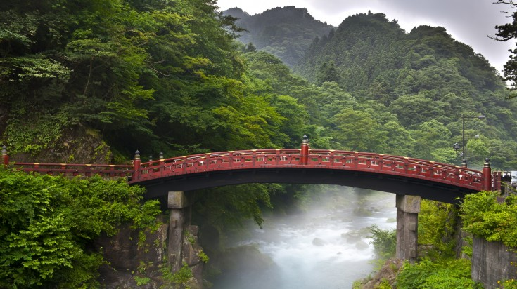 Shinkyo bridge is one of the most interesting places to visit in Japan as it acts an entrance to Nikko's shrines.