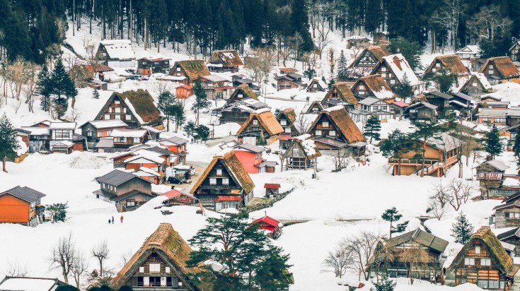Shirakawago is a traditional village in Japan which has gasshō style houses