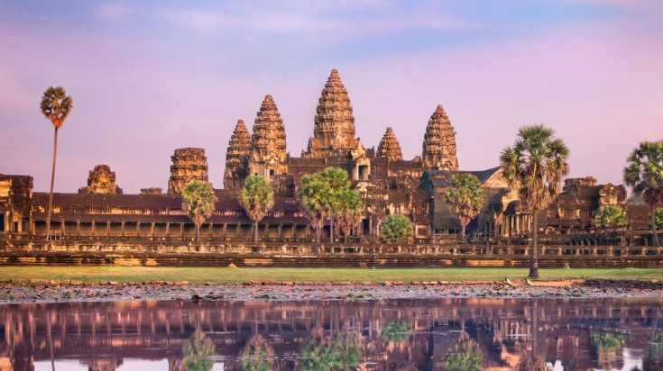 The Angkor Wat temple is a mysterious place to visit in Asia.