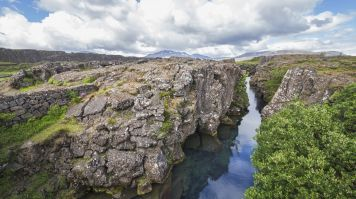 Silfra is a popular tourist spot in Thingvellir national park