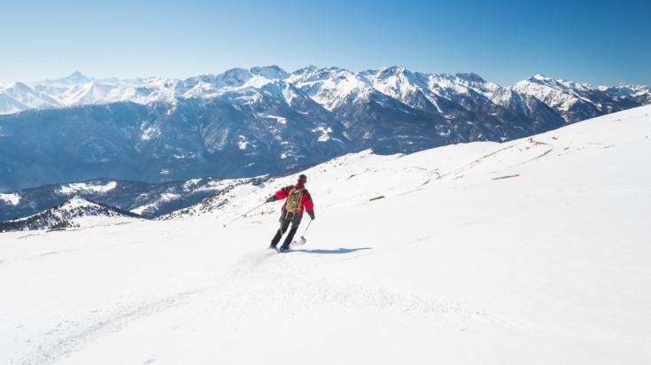 Skiing the alps in Turin
