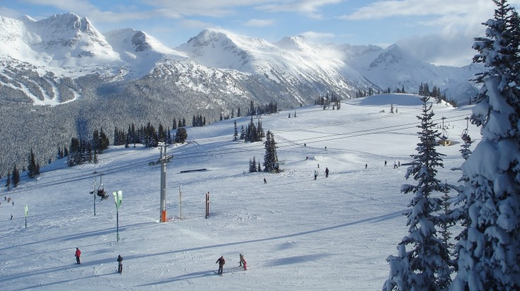 Skiing in Whistler and Blackcomb in Canada