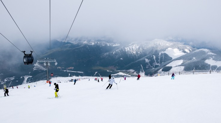 The mountains of Whistler in Canada is every skier's dream destination.