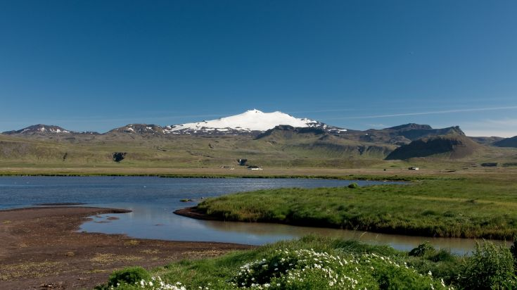 Snaefellsjokull glacier is a must see glacier in Iceland