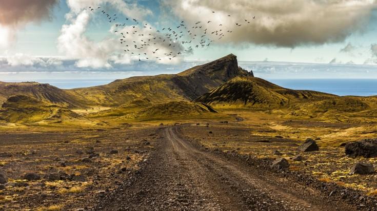 Surreal landscape in Snaefellsnes peninsula