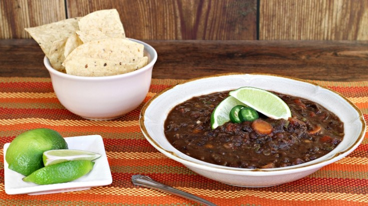 Sopa negra is a black bean soup one of the staple foods of Costa Rica