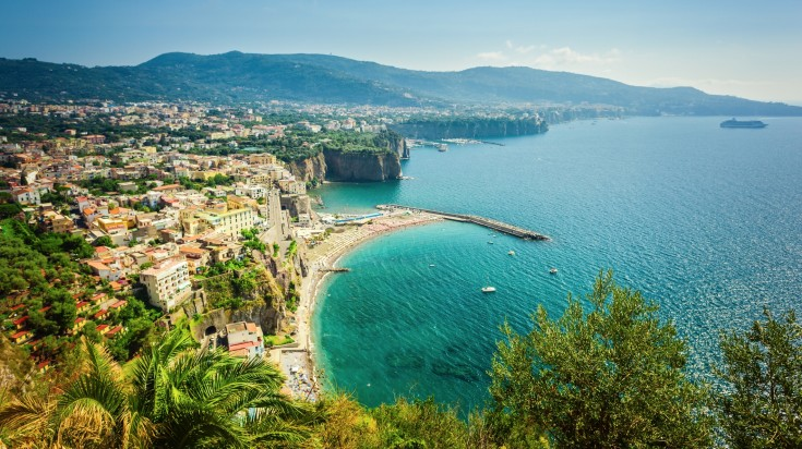 Sorrento is a colorful little town perched on the hill top.