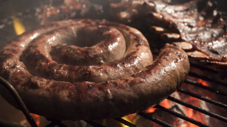 Traditional south african food boerewors