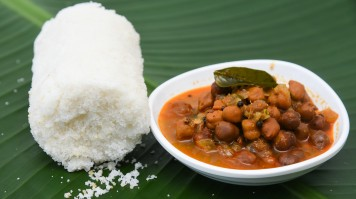 Puttu breakfast in South India