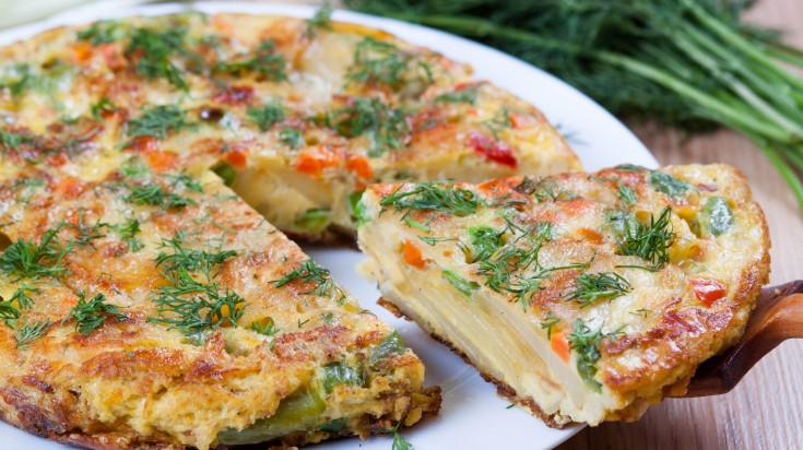 Spanish food tortilla espanola