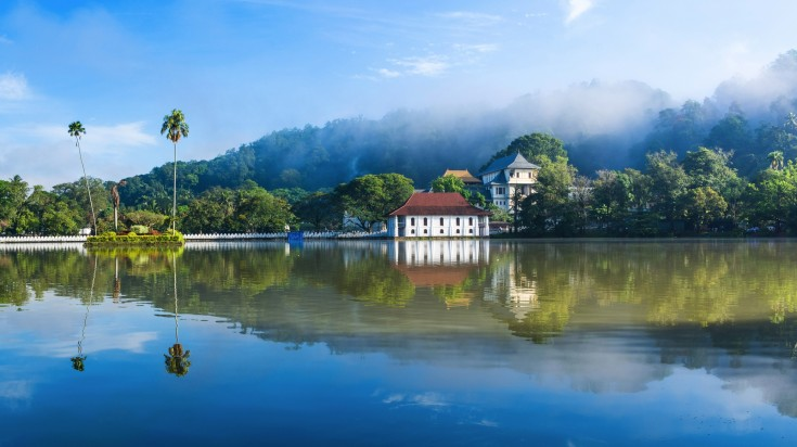 Temple of the Sacred Tooth Relic in the city of Kandy