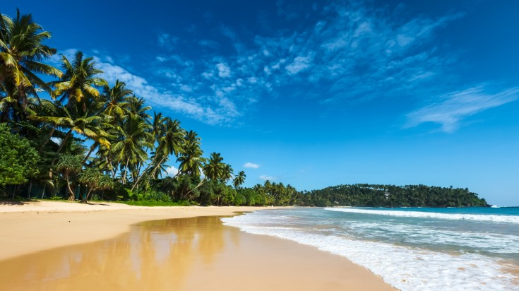 A beach in Sri Lanka is as scenic as they come