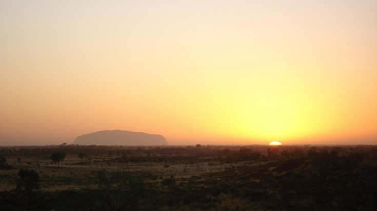 Watching the sun rising in the Australian outback is one of the best things