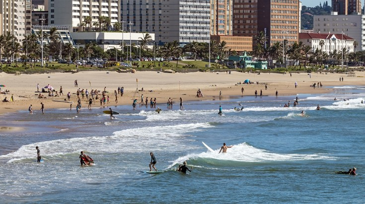 surfing is a must-do thing inDurban
