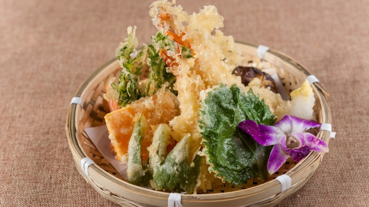 If you're thinking of what to eat in Japan try Tempura, a battered and deep-fried version of vegetables and seafood.