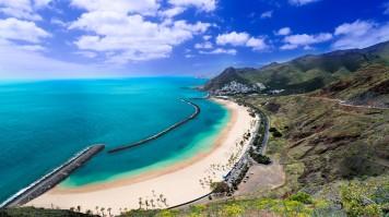 Tenerife beach in Spain