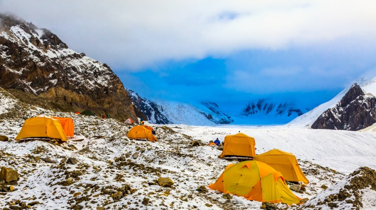 Tents in the Makalu Base Camp