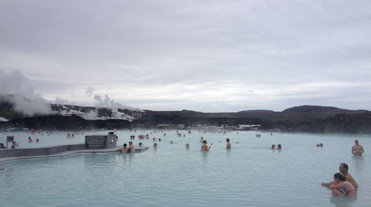 The Blue Lagoon is a prime hot spring location in Iceland