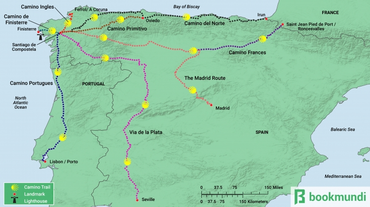 Camino Trail Map