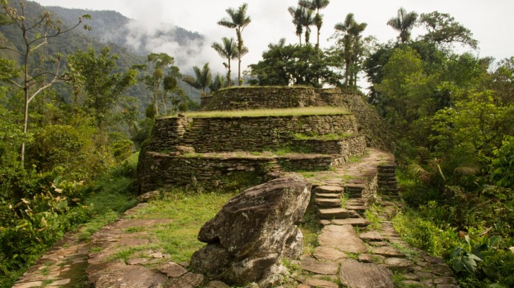 The Lost City Trek ruins in Colombia