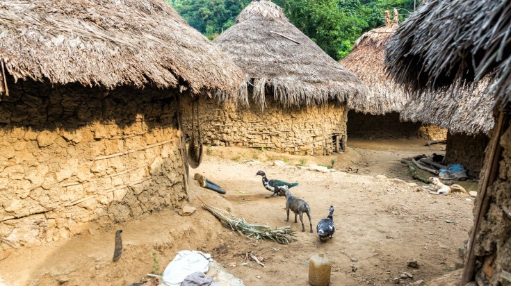 An indigenous village on the Lost City Trek trail