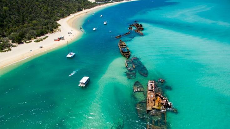 Things to do in Brisbane - visit Moreton Island