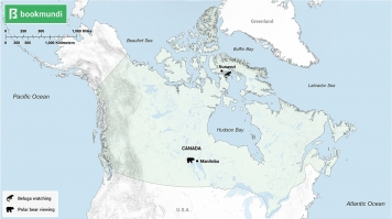 An overview map of animal sightseeing in Canada