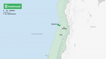 Valparaiso in Chile map