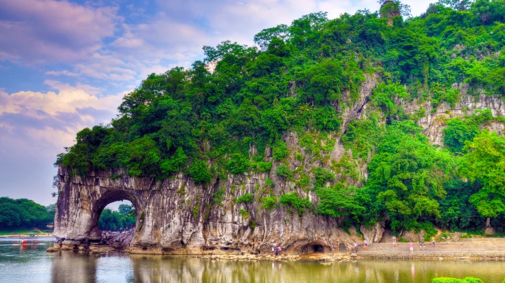 The Elephant Trunk Hill, the landmark and tourist attraction in Guilin