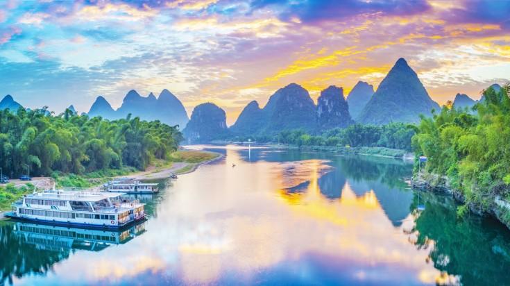 Li river during sunset