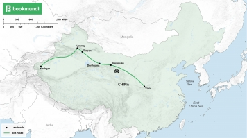 An overview map of the Silk Road in China