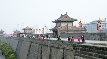 Xian City Walls is a famous tourist attraction in China