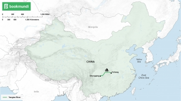 An overview map of Yangtze River cruise