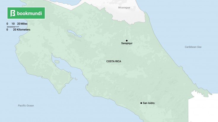 Costa Rica Chocolate tasting Map