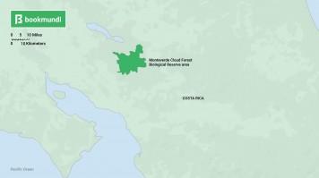Costa Rica Monteverde map