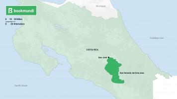 Costa Rica San Gerardo de Dota map