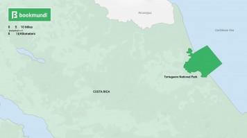 Costa Rica Tortuguero map