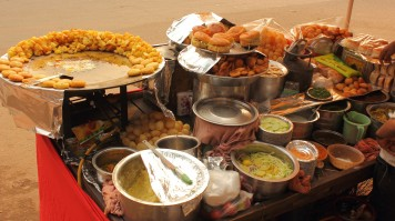 Try local food in Delhi