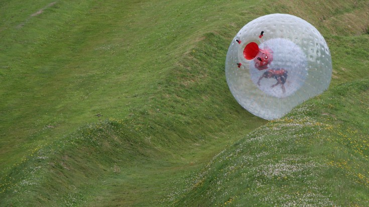 Zorbing is an extreme activity in Durban