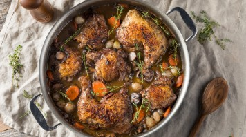 Coq au Vin is one of the must have foods in France