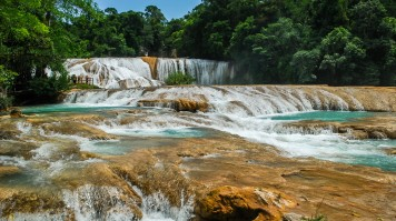 Visiting Agua Azul waterfalls is one of the things to do in Mexico