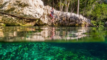 Swim in the clear waters of Cenotes in Mexico