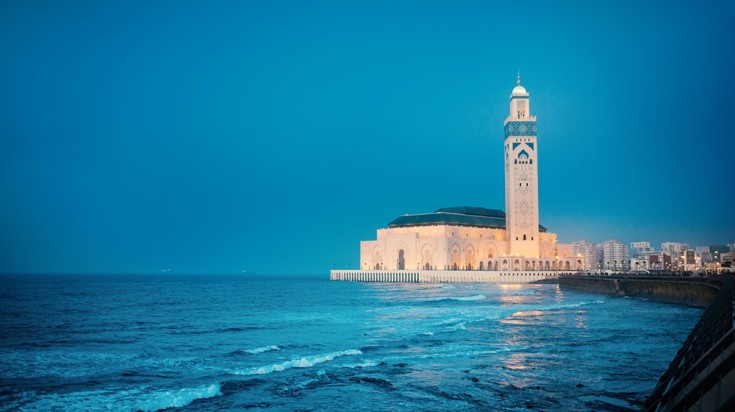 Visiting the mosque of Casablanca is the best things to do in Morocco