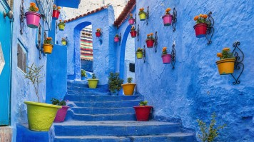 the blue alleys of Chefcauouen in Morocco