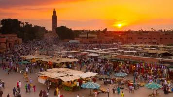 Marrakech market in Morocco