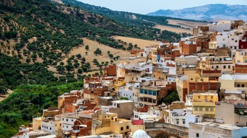 Moulay Idriss is a holy town near Meknes in Morocco