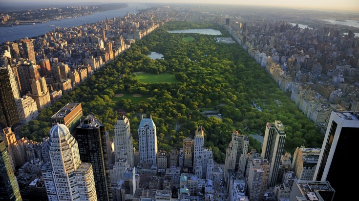 Things to do in New York, Central park aerial view