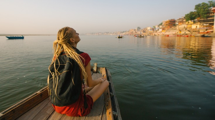 Boating down the Ganges